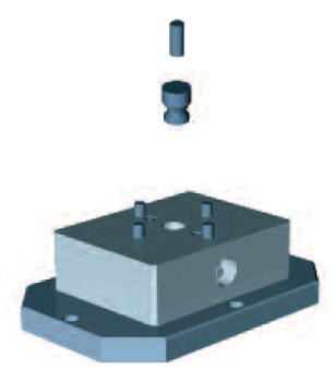 Zubehör für Montage auf Maschinentisch oder Mehrfachspannsystem