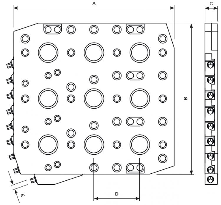 zur Aufspannplatte T100 Typ 1 und Typ 2 (neunfach 3x3)