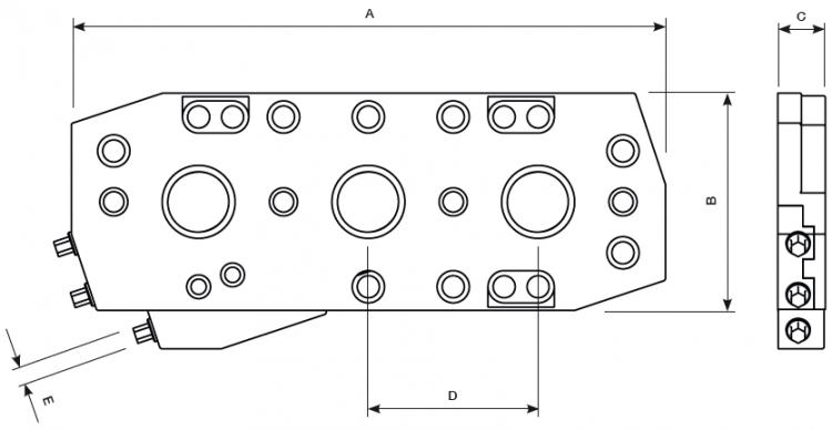 zur Aufspannplatte T100 Typ 1 und Typ 2