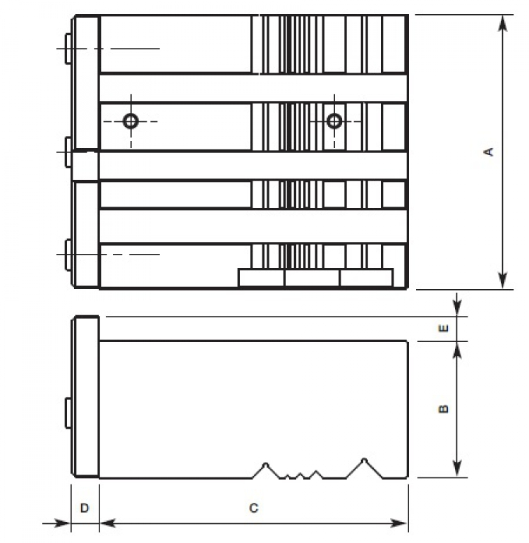 hemo Spannblock P, komplett, ohne Grundplatte